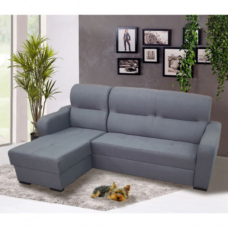 Corner sofa bed AVEZ with storage and sleeping function 220cm 7'2''