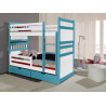 Wooden bunk bed Sally with mattress and 2 drawers - 25 colours of frame and inserts