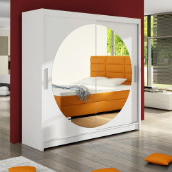 Modern Wardrobe Agnes O with sliding doors and mirror (180cm)