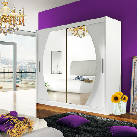 Modern Wardrobe Agnes 4 with sliding doors and mirror (180cm)