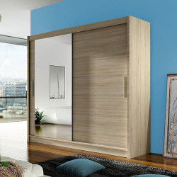 Modern Wardrobe Agnes 6 with sliding doors and mirror (180cm)