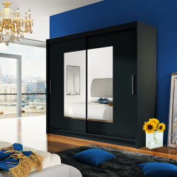 Modern Wardrobe Agnes 7 with sliding doors and mirror (180cm)