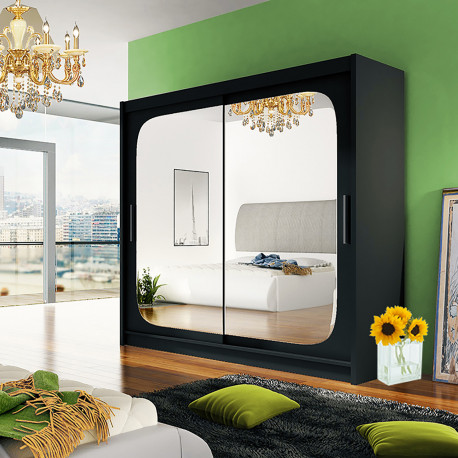 Modern Wardrobe Agnes 8 with sliding doors and mirror (180cm)