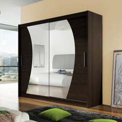 Modern Wardrobe Agnes 9 with sliding doors and mirror (180cm)