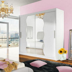 Modern Wardrobe Agnes 10 with sliding doors and mirror (180cm)
