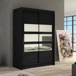 Modern Wardrobe Marina 5 with sliding doors and mirror (120cm)