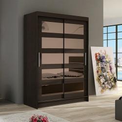 Modern Wardrobe Marina 4 with sliding doors and coloured mirrors (120cm)