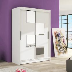 Modern Wardrobe Marina 3 with sliding doors and mirror (120cm)