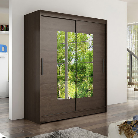 Modern Wardrobe Wendy 3 with sliding doors and mirror (150cm)