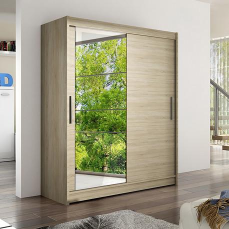 Modern Wardrobe Wendy 6 with sliding doors and mirror (150cm)