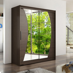 Modern Wardrobe Wendy 10 with sliding doors and mirror (150cm)