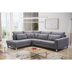 Big corner sofa Leuca K with elegant design 314cm 10'3''