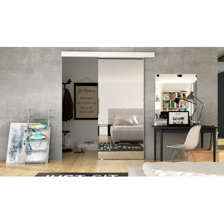 Suspended Sliding Door Ivy 2A with Mirror
