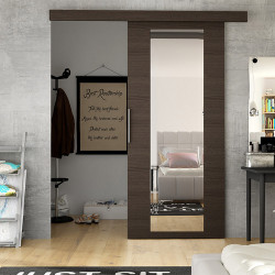 Suspended Sliding Door Eva 4A with Mirror