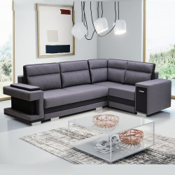 Corner sofa bed Aspe1 K with 2 storages, sleeping function and drawer 305cm 10'