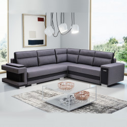 Corner sofa bed Aspe2 K with 2 storages, sleeping function and drawer 305cm 10'