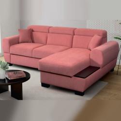 Corner sofa bed Nola 1 R, storage and sleeping function optional, 274cm / 8'11''