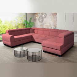 U-shaped sofa bed Nola 4 R, storage and sleeping function optional, 364cm / 11'11''