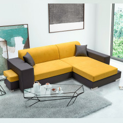 Corner sofa bed Maddy K with a storage and sleeping function 290 cm 8'