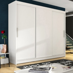 Wardrobe with sliding doors and optional LED Lights (250cm)