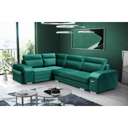 Corner sofa bed Silver 2 with storage and sleeping function 280cm 9'2''