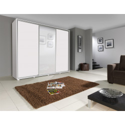 Large Wardrobe Elle with sliding doors and mirror  (255cm)
