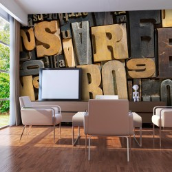 XXL wallpaper  Wooden letters
