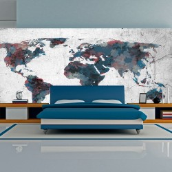 XXL wallpaper  World map on the wall