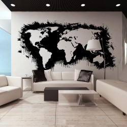 XXL wallpaper  White continents, black oceans...