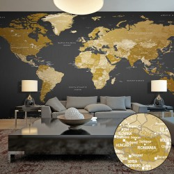 XXL wallpaper  World Map Modern Geography II