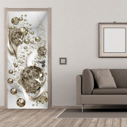 Photo wallpaper on the door  Photo wallpaper  Bubble abstraction I