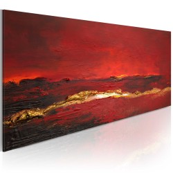 Handmade painting  Redness of the ocean