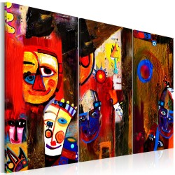 Handmade painting  Abstract Carnival