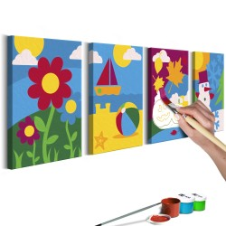 DIY canvas painting  Four Seasons