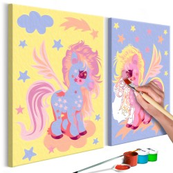 DIY canvas painting  Magical Unicorns