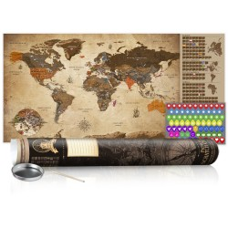 Scratch map  Vintage Map  Poster (English Edition)