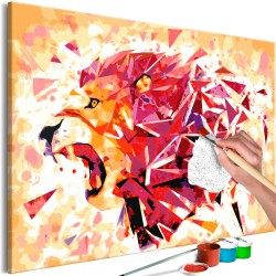 DIY canvas painting  Abstract Lion