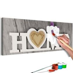 DIY canvas painting  Home and Butterfly