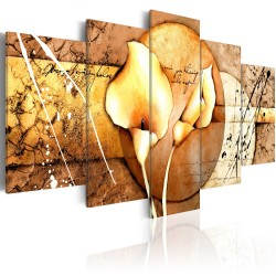 Canvas Print  The Secret of Calla Lily  Gold