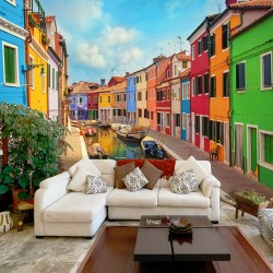 Wallpaper   Colorful Canal in Burano