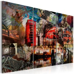 Canvas Print  London collage  triptych