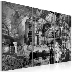 Canvas Print  The essence of London  triptych
