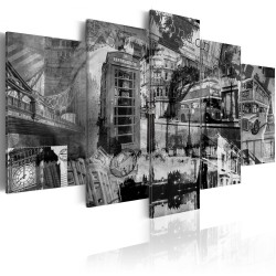 Canvas Print  The essence of London  5 pieces