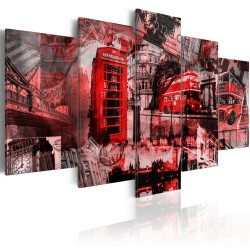 Canvas Print  London collage  5 pieces