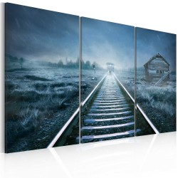 Canvas Print  A journey in the fog