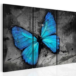 Canvas Print  The study of butterfly  triptych