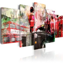 Canvas Print  Memories from London  5 pieces