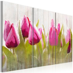 Canvas Print  Spring bouquet of tulips