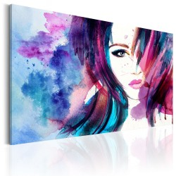 Canvas Print  Watercolor Girl