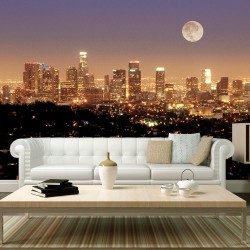 Wallpaper  The moon over the City of Angels